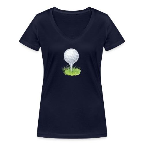 Golf Ball PNG Clipart - Camiseta ecológica mujer con cuello de pico de Stanley & Stella