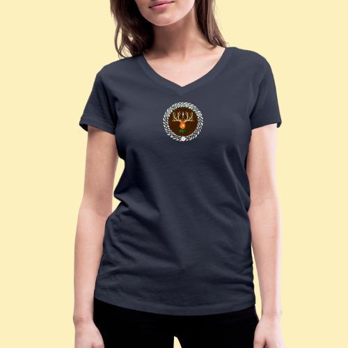 Médaillon de Neved - T-shirt bio col V Stanley & Stella Femme