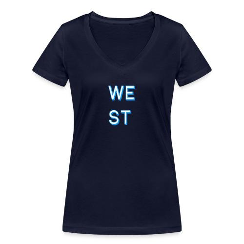 WEST LOGO - T-shirt ecologica da donna con scollo a V di Stanley & Stella