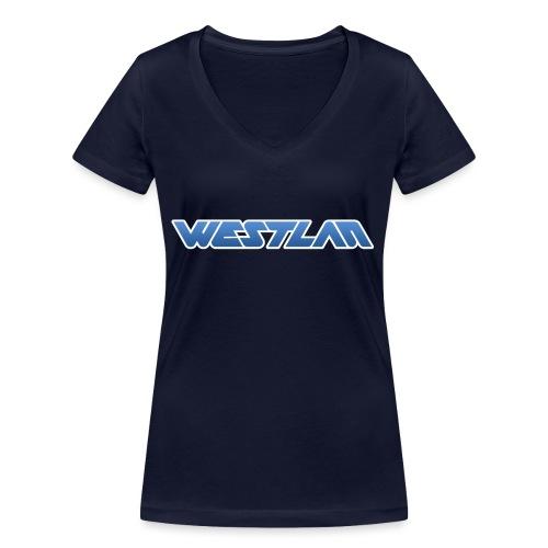 WestLAN Logo - Women's Organic V-Neck T-Shirt by Stanley & Stella