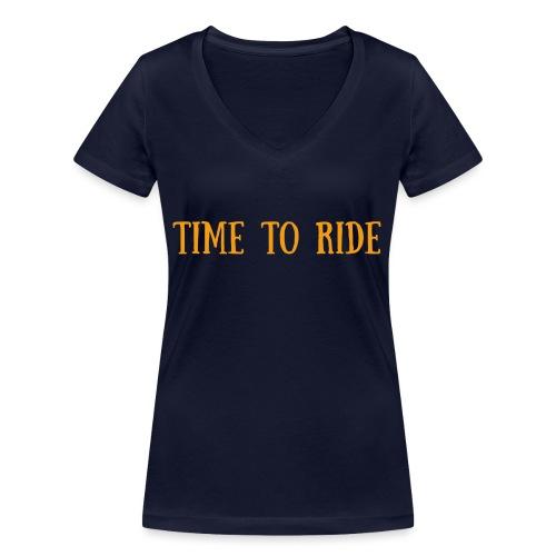 TIME TO RIDE - T-shirt bio col V Stanley & Stella Femme