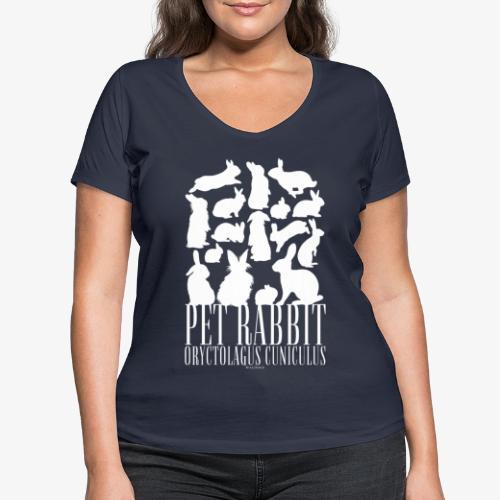 Pet Rabbit - Stanley & Stellan naisten v-aukkoinen luomu-T-paita