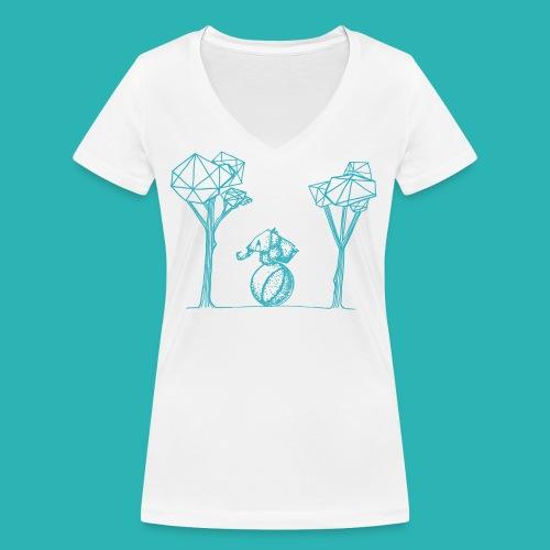Rotolare_o_capitombolare_lightblu-png - T-shirt ecologica da donna con scollo a V di Stanley & Stella