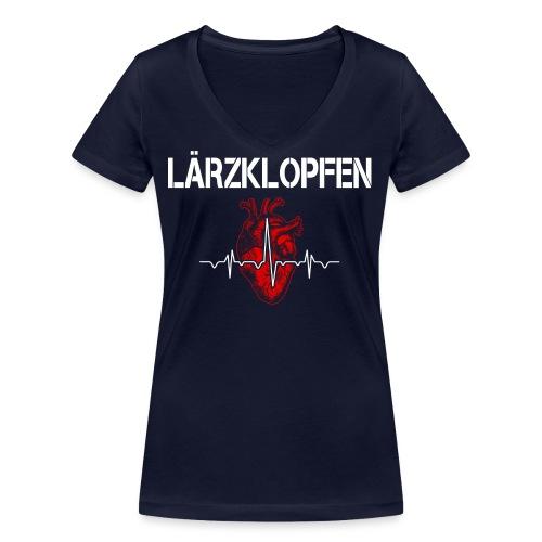Lärzklopfen - Frauen Bio-T-Shirt mit V-Ausschnitt von Stanley & Stella