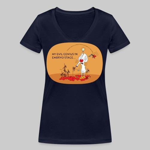 VJocys Evil - Women's Organic V-Neck T-Shirt by Stanley & Stella
