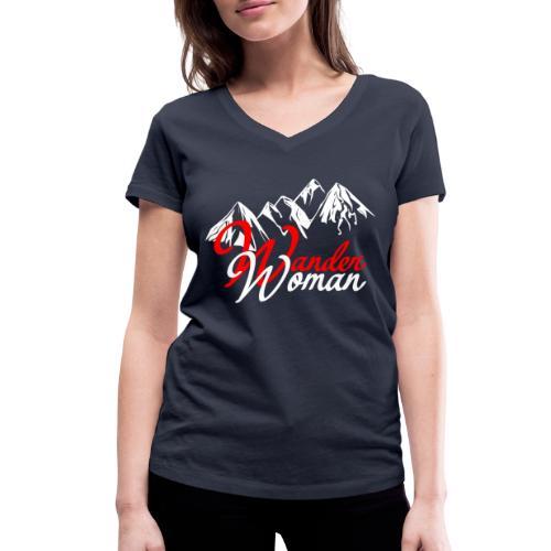 WanderWoman Wandern 2021 - Frauen Bio-T-Shirt mit V-Ausschnitt von Stanley & Stella