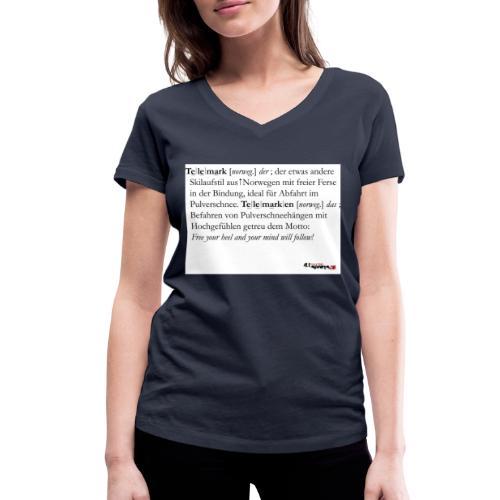 Telemark - die Definition - Frauen Bio-T-Shirt mit V-Ausschnitt von Stanley & Stella