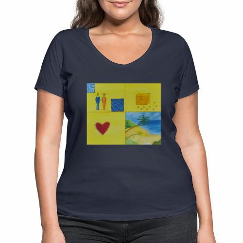 Viererwunsch - Frauen Bio-T-Shirt mit V-Ausschnitt von Stanley & Stella
