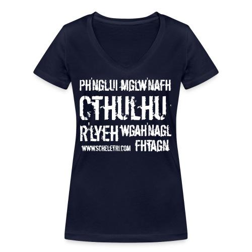 Cthulhu - T-shirt ecologica da donna con scollo a V di Stanley & Stella