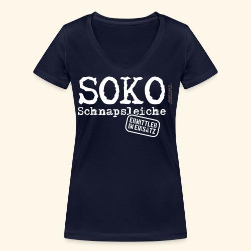 Sauf T Shirt SOKO Schnapsleiche - Frauen Bio-T-Shirt mit V-Ausschnitt von Stanley & Stella