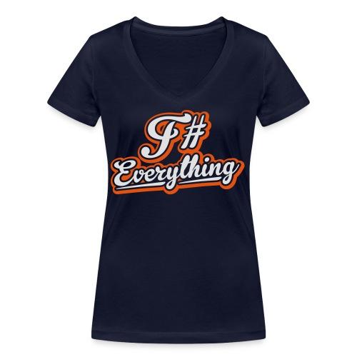 F# Everything - Women's Organic V-Neck T-Shirt by Stanley & Stella