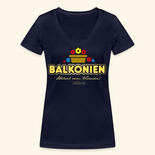 Balkonien T Shirt - Frauen Bio-T-Shirt mit V-Ausschnitt von Stanley & Stella