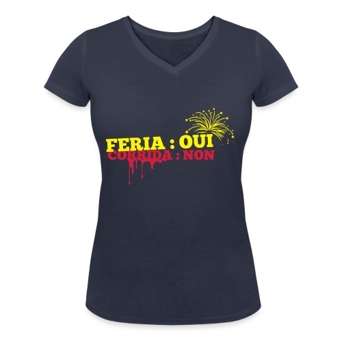 feria - T-shirt bio col V Stanley & Stella Femme