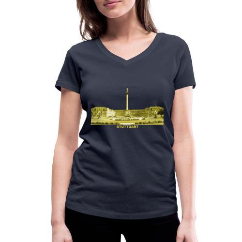 Stuttgart Schlossplatz Sight Baden-Württemberg - Frauen Bio-T-Shirt mit V-Ausschnitt von Stanley & Stella
