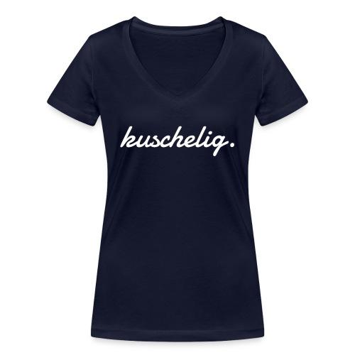 kuschelig. Frauen-Pullover - Frauen Bio-T-Shirt mit V-Ausschnitt von Stanley & Stella