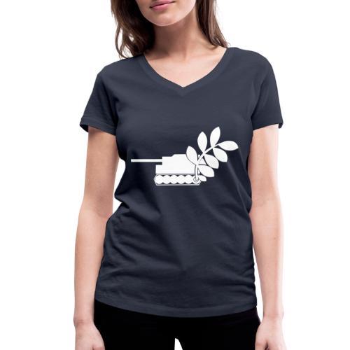 Global Campaign on Military Spending Logo v1 - Women's Organic V-Neck T-Shirt by Stanley & Stella