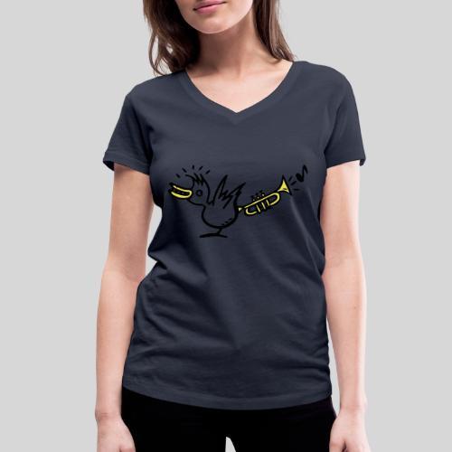 trompetenvogel - Frauen Bio-T-Shirt mit V-Ausschnitt von Stanley & Stella
