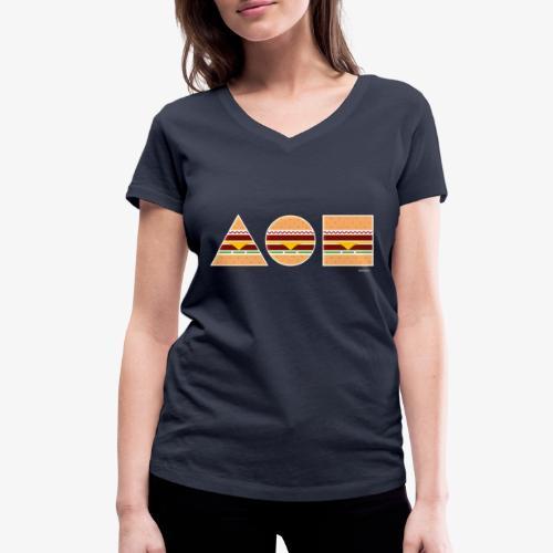 Graphic Burgers - T-shirt ecologica da donna con scollo a V di Stanley & Stella