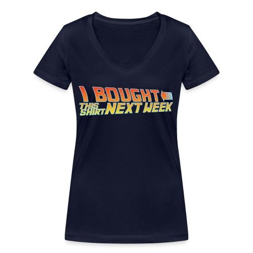 Back to Shirt - Frauen Bio-T-Shirt mit V-Ausschnitt von Stanley & Stella