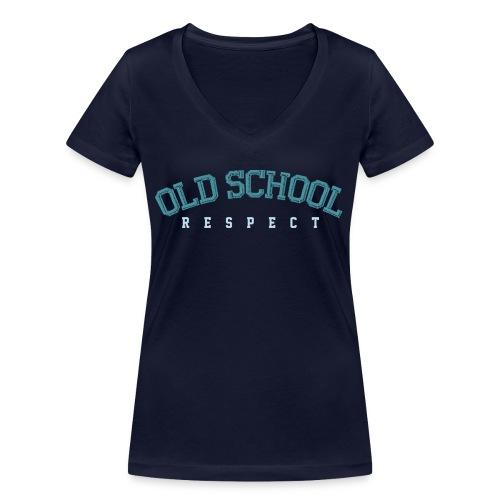 Old School Respect 02 - Vrouwen bio T-shirt met V-hals van Stanley & Stella