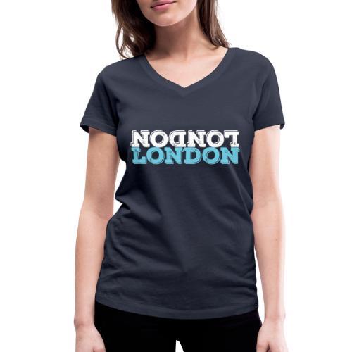 London Souvenir - Upside Down London - Frauen Bio-T-Shirt mit V-Ausschnitt von Stanley & Stella