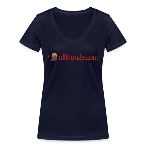 Ullihunde Schriftzug mit Logo - Frauen Bio-T-Shirt mit V-Ausschnitt von Stanley & Stella