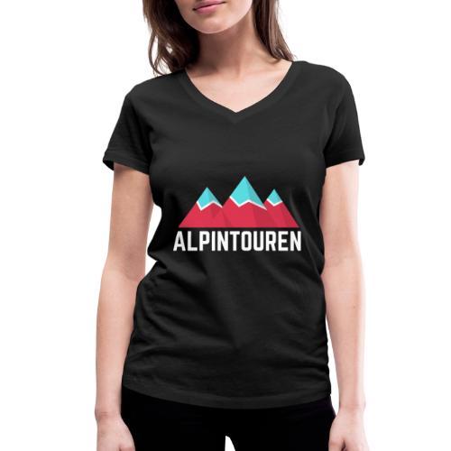 Alpintouren Logo - Frauen Bio-T-Shirt mit V-Ausschnitt von Stanley & Stella