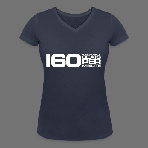 160 BPM (white long) - Frauen Bio-T-Shirt mit V-Ausschnitt von Stanley & Stella