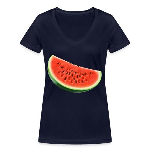 Watermelon - bio - Vrouwen bio T-shirt met V-hals van Stanley & Stella