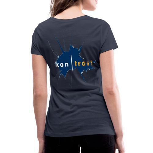 kontrast motiv 2020 - Frauen Bio-T-Shirt mit V-Ausschnitt von Stanley & Stella