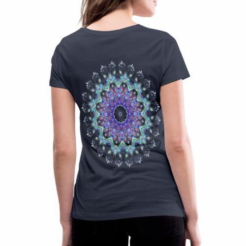 Lilla mandala pastel - Økologisk Stanley & Stella T-shirt med V-udskæring til damer