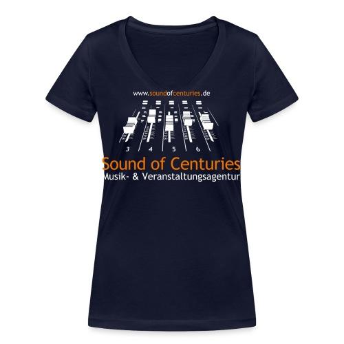 Logo SoC weiss png - Frauen Bio-T-Shirt mit V-Ausschnitt von Stanley & Stella