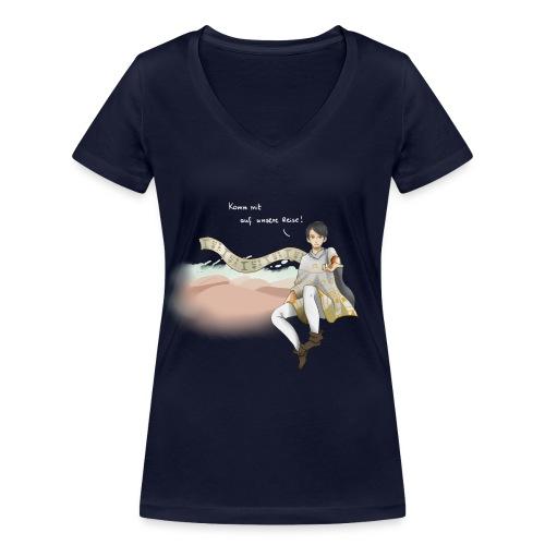 20141223 Design1 Komm mit auf unsere Reise png - Frauen Bio-T-Shirt mit V-Ausschnitt von Stanley & Stella