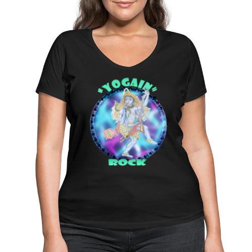 YogaIn Rock - T-shirt ecologica da donna con scollo a V di Stanley & Stella