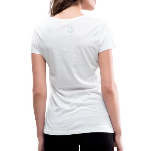 Logo Stamp - Women's Organic V-Neck T-Shirt by Stanley & Stella