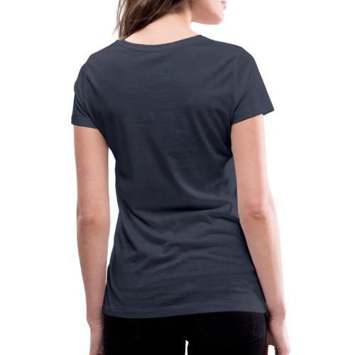 Logo Stamp - Women's Organic V-Neck T-Shirt by Stanley & Stella