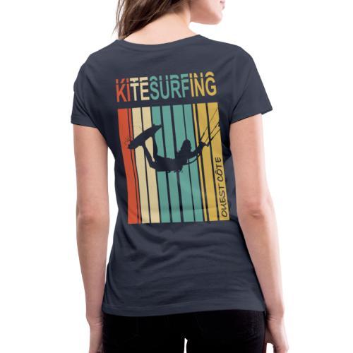 Kitesurfing Ouest Côte - T-shirt bio col V Stanley & Stella Femme