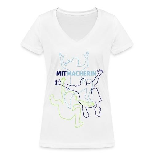 spontacts_TShirt_Grafik_F - Frauen Bio-T-Shirt mit V-Ausschnitt von Stanley & Stella