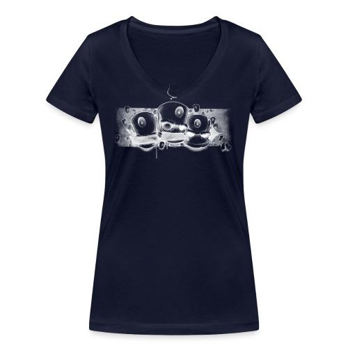 see no evil ! Moe Friscoe ver02 - Økologisk Stanley & Stella T-shirt med V-udskæring til damer