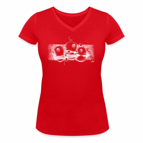 Dont ! Moe Friscoe ver02 - Økologisk Stanley & Stella T-shirt med V-udskæring til damer