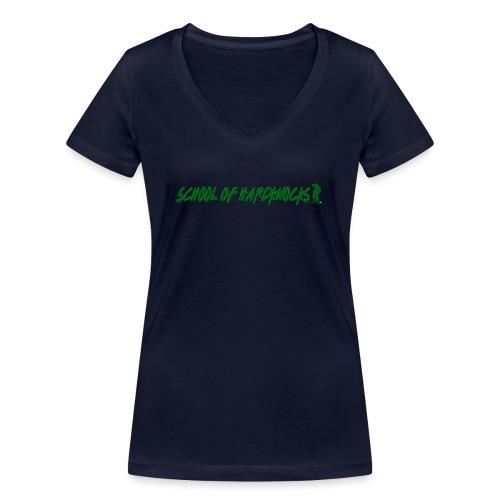 school of hardknocks ver 0 1 green - Økologisk Stanley & Stella T-shirt med V-udskæring til damer