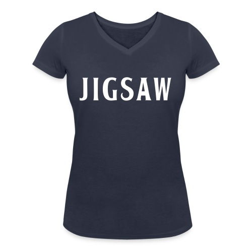 JigSaw White - Women's Organic V-Neck T-Shirt by Stanley & Stella