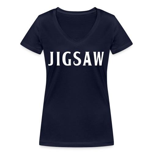 JigSaw White - Women's Organic V-Neck T-Shirt by Stanley & Stella