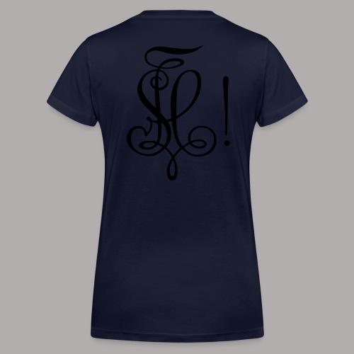 Zirkel, schwarz (hinten) - Frauen Bio-T-Shirt mit V-Ausschnitt von Stanley & Stella