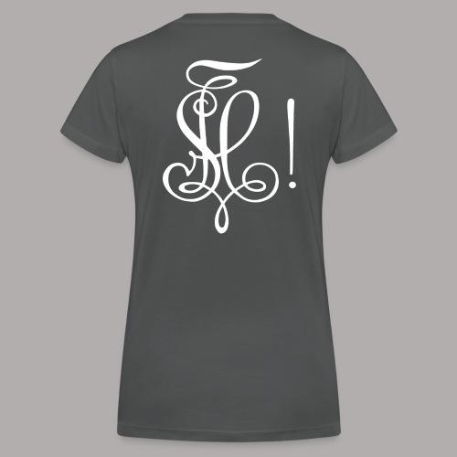 Zirkel, weiss (hinten) - Frauen Bio-T-Shirt mit V-Ausschnitt von Stanley & Stella
