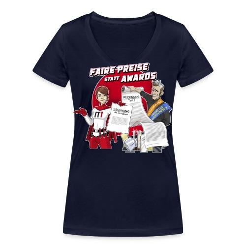 Faire Preise statt Awards - Frauen Bio-T-Shirt mit V-Ausschnitt von Stanley & Stella