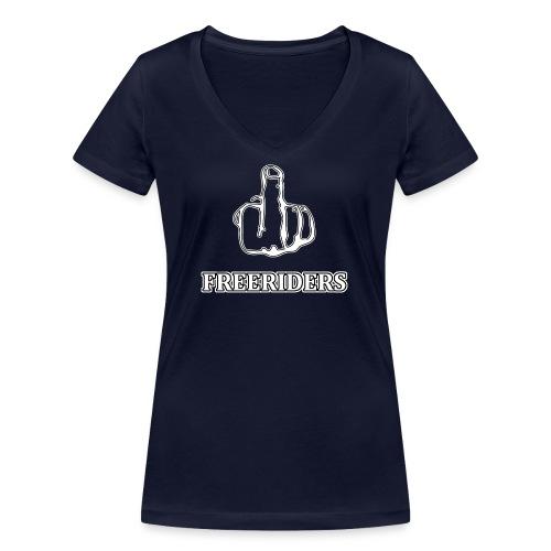 Logo Neu png - Frauen Bio-T-Shirt mit V-Ausschnitt von Stanley & Stella