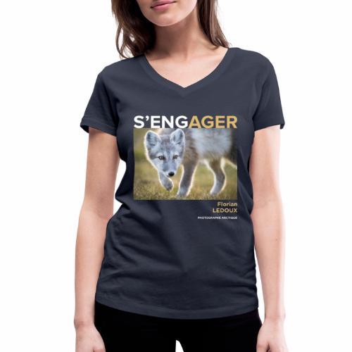 1 Achat = 1 Don à l'association ArcticArtsProject - T-shirt bio col V Stanley & Stella Femme