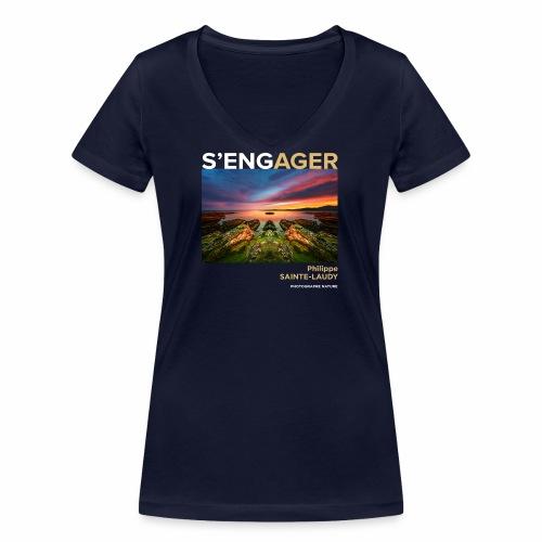 1 Achat = 1 Don à l'association Coeur de forêt - T-shirt bio col V Stanley & Stella Femme