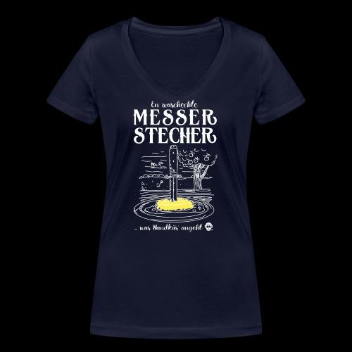 Messerstecher - Frauen Bio-T-Shirt mit V-Ausschnitt von Stanley & Stella